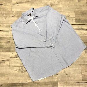 MICHAEL KORS - Tall 20 Blue Button Long Sleeve